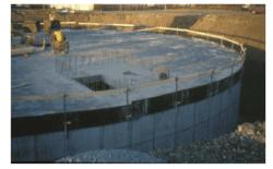 103 Sirkulært basseng under bygging